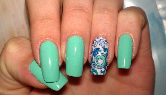 Цветной стемпинг для ногтей