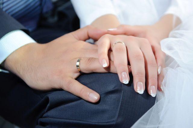 Свадебный французский маникюр
